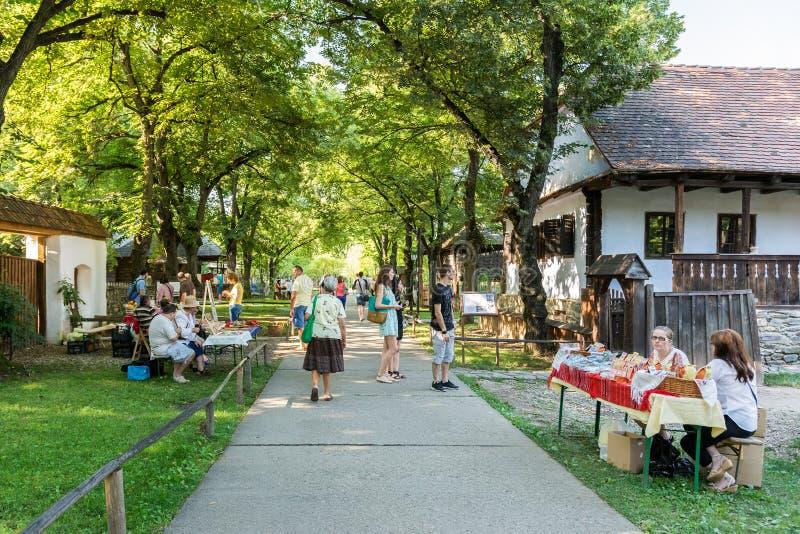 Dimitrie Gusti National Village Museum (Muzeul Satului) fotografering för bildbyråer