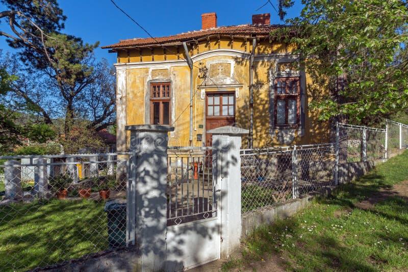 DIMITROVGRAD,塞尔维亚2016年4月-16 :Dimitrovgrad镇的中心,皮罗特地区,塞尔维亚 免版税库存照片