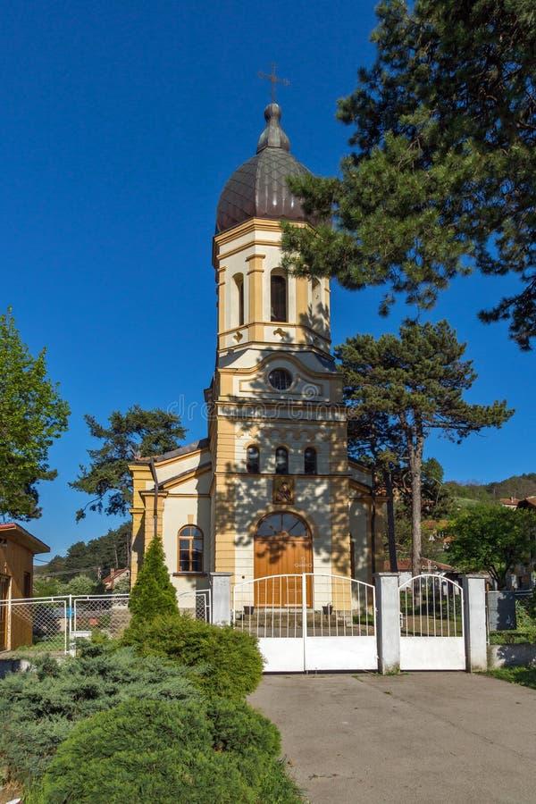 DIMITROVGRAD, SERBIA -16 APRIL 2016: The church Virgin Mary in Dimitrovgrad, Pirot Region, Serbia. DIMITROVGRAD, SERBIA -16 APRIL 2016: The church Virgin Mary in royalty free stock image