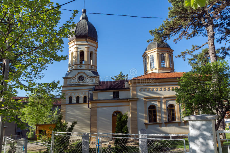 DIMITROVGRAD, SERBIA -16 APRIL 2016: The church Virgin Mary in Dimitrovgrad, Pirot Region, Serbia. DIMITROVGRAD, SERBIA -16 APRIL 2016: The church Virgin Mary in royalty free stock photo