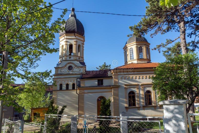 DIMITROVGRAD, SERVIË -16 APRIL 2016: De kerk Maagdelijke Mary in Dimitrovgrad, Pirot-Gebied, Servië royalty-vrije stock foto
