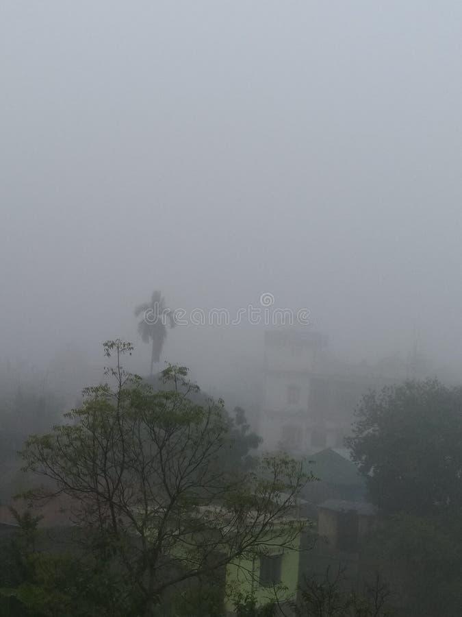 Dimma eller smog arkivfoton