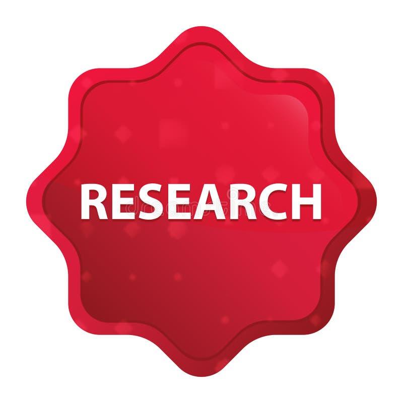 Dimmig forskning steg den röda starburstklistermärkeknappen vektor illustrationer