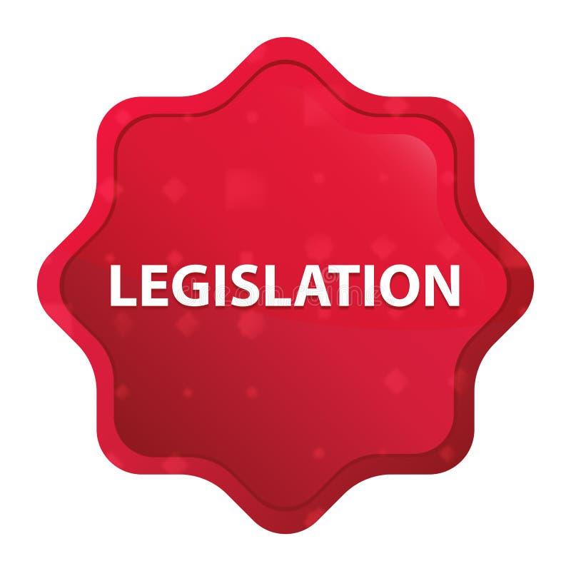 Dimmig lagstiftning steg den röda starburstklistermärkeknappen stock illustrationer
