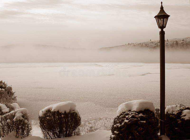 Download Dimmig lake fotografering för bildbyråer. Bild av sepia - 49185