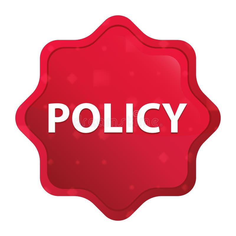 Dimmig politik steg den röda starburstklistermärkeknappen stock illustrationer