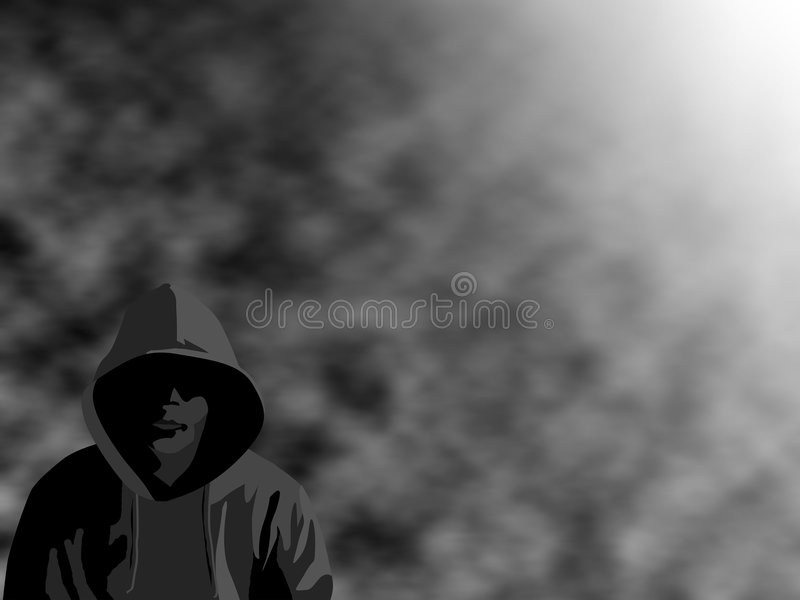 dimmig thug vektor illustrationer