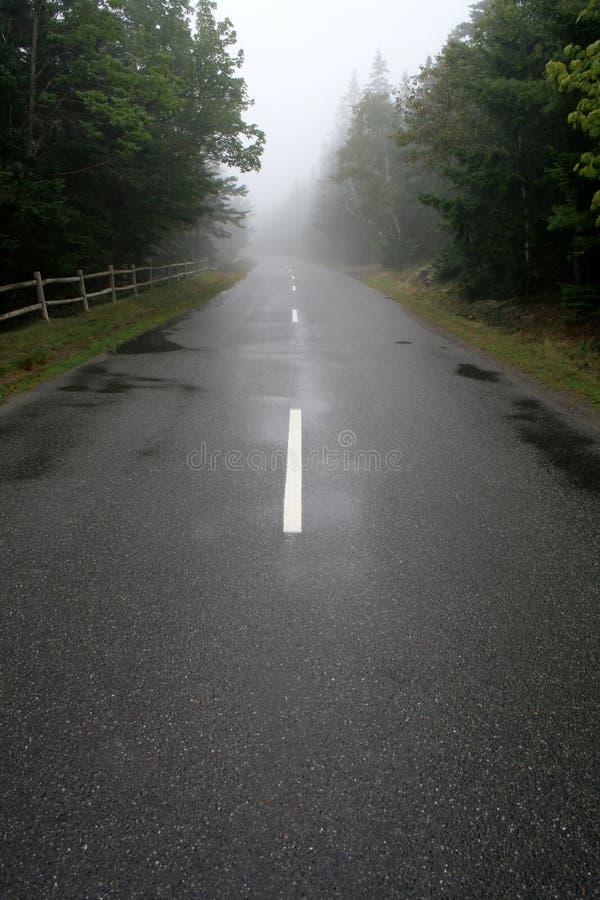 dimmig väg arkivfoton