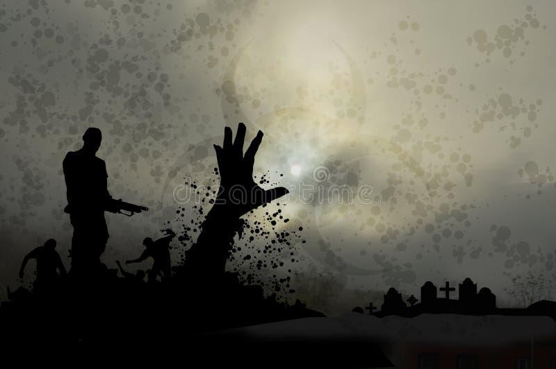 Dimmiga levande död 2 vektor illustrationer