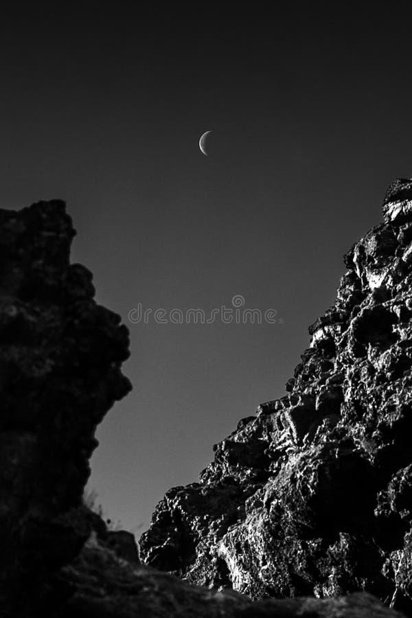 Dimmuborgir月亮 库存照片