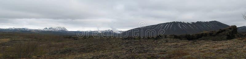 Dimmuborgir, icelandic area of unusually shaped lava fields royalty free stock image