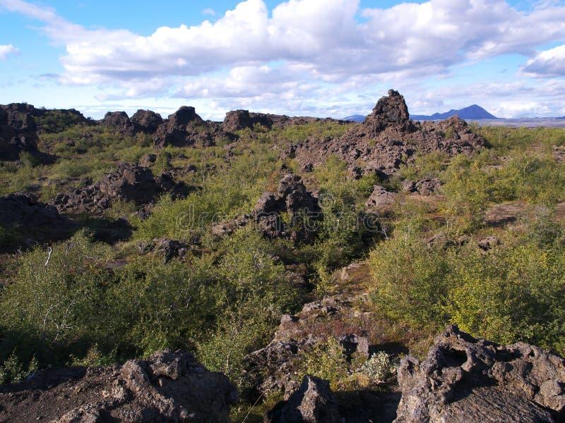 Dimmuborgir, północny Iceland zdjęcie stock