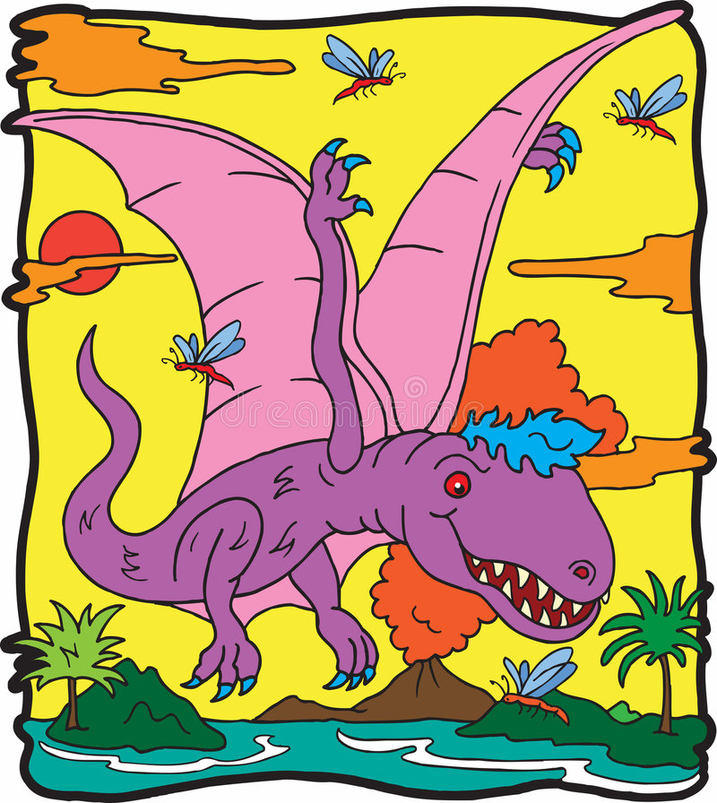 dimorphodondinosaur stock illustrationer