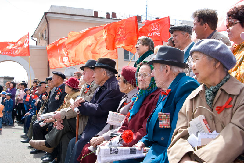 Dimostrazione comunista fotografia stock