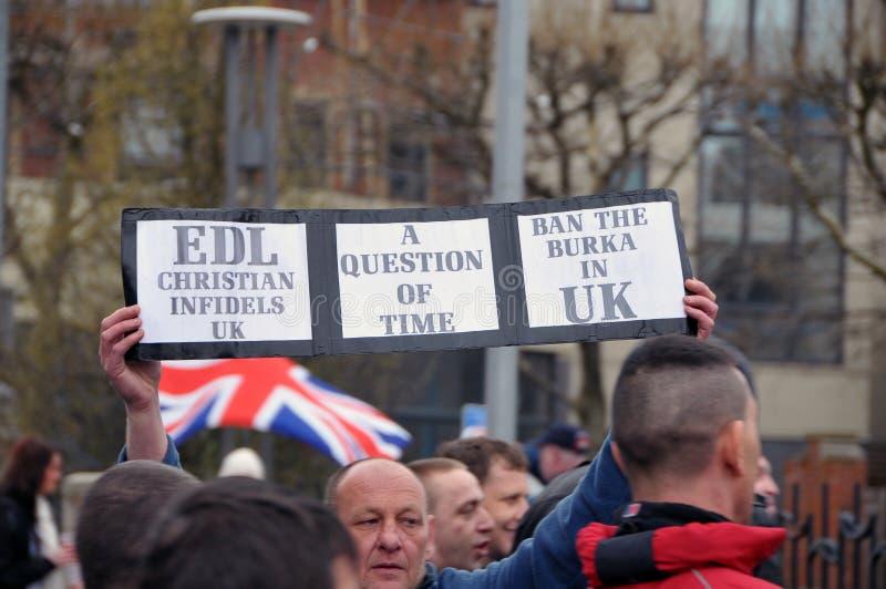 Dimostrazione di EDL in Blackburn immagine stock libera da diritti