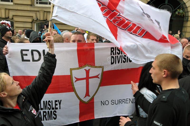 Dimostrazione di EDL in Blackburn fotografie stock