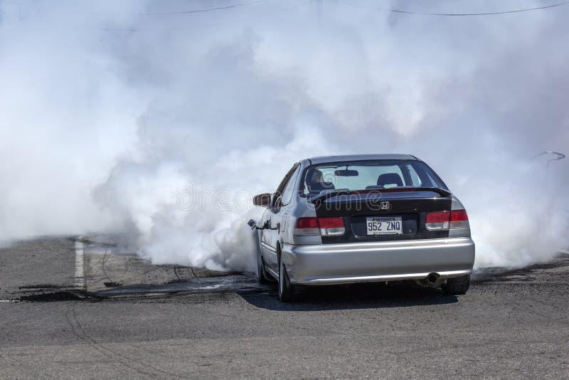 Dimostrazione di manifestazione del fumo immagini stock