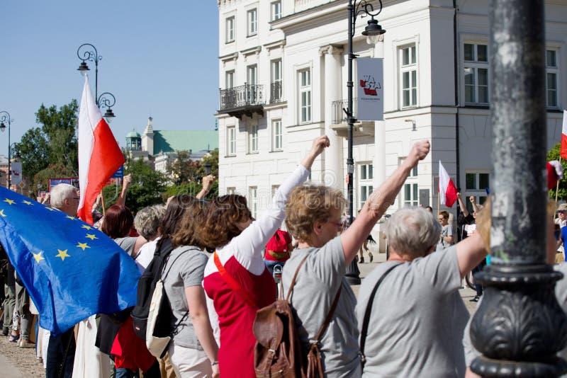 Dimostrazione politica KOD fotografie stock
