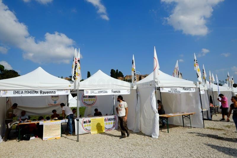 Dimostrazione politica a Roma immagini stock libere da diritti