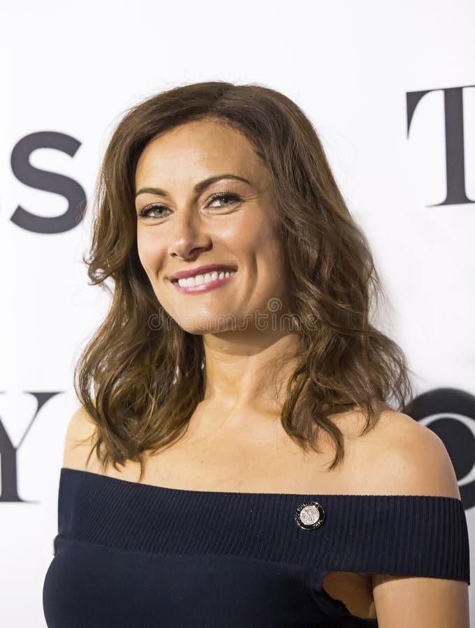Dimpled and Drop-Dead Gorgeous Actress/Singer Laura Benanti royalty free stock photos