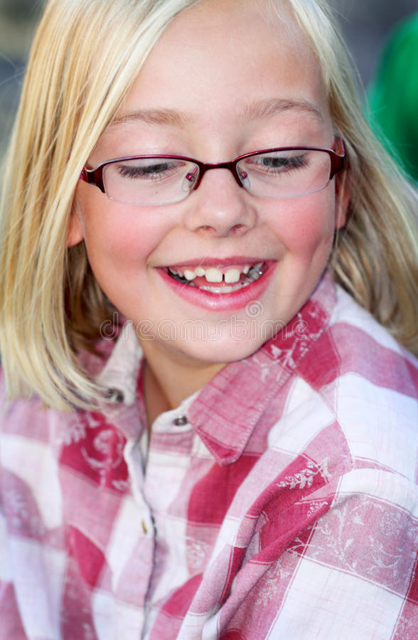 Dimples, Glasses and a Big Smile stock photography