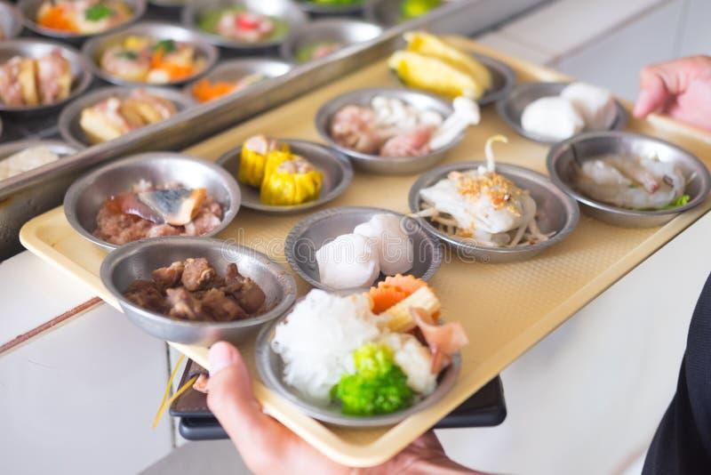 Dimsum een soort lokaal ontbijt van Thailand royalty-vrije stock foto