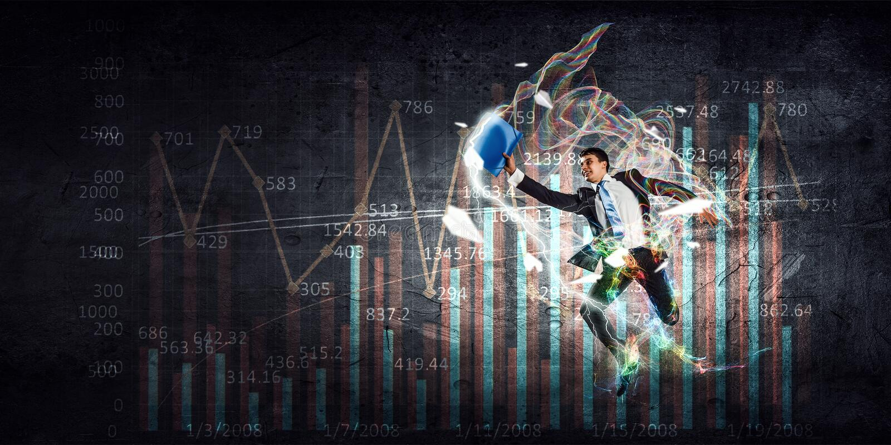 Dinámica positiva del mercado imagen de archivo
