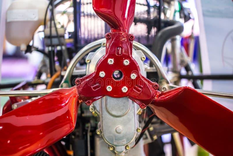 Dinámico de la aspa del ventilador del rotor del paramotor del primer aero- foto de archivo