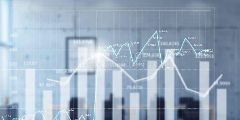 Dinâmica das vendas e conceito do crescimento fotografia de stock