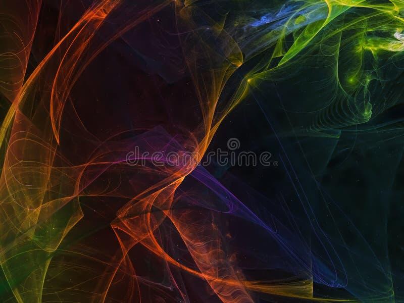 Dinâmico criativo surreal do universo fantástico abstrato do computador do fractal ilustração do vetor
