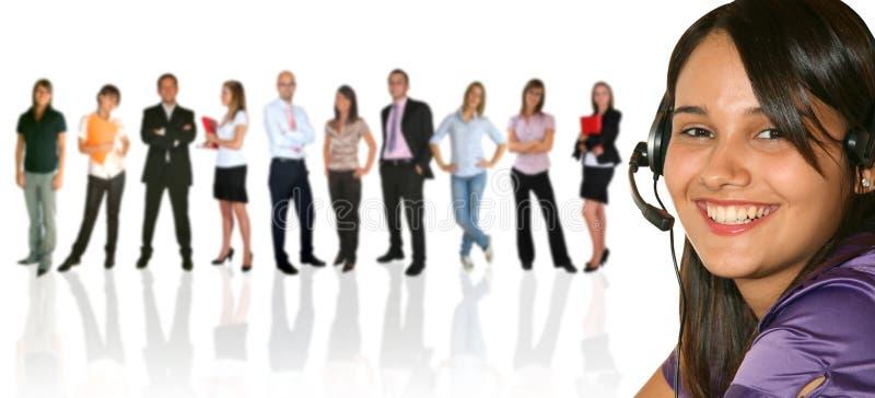 din businessteamaffärskvinna arkivbild