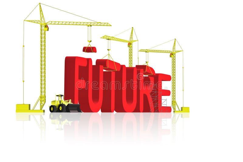 din dröm- framtid för byggande stock illustrationer