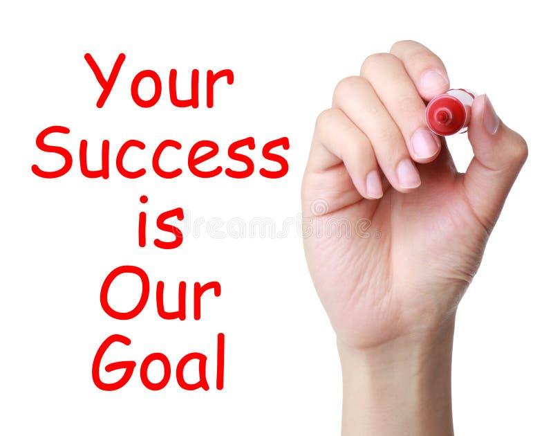 Din framgång är vårt mål arkivbild