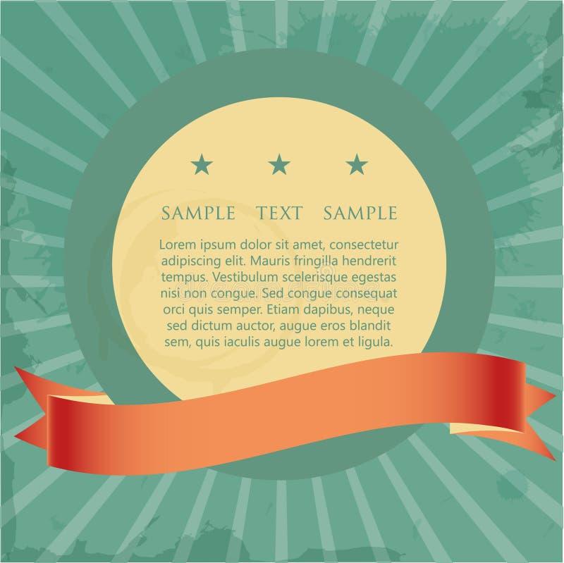 din tappning för text för banerställetecken royaltyfri illustrationer