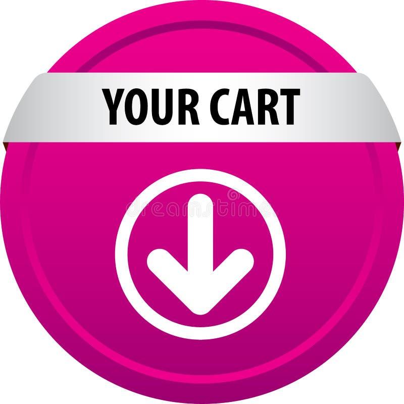 Din vagnsrengöringsdukknapp stock illustrationer