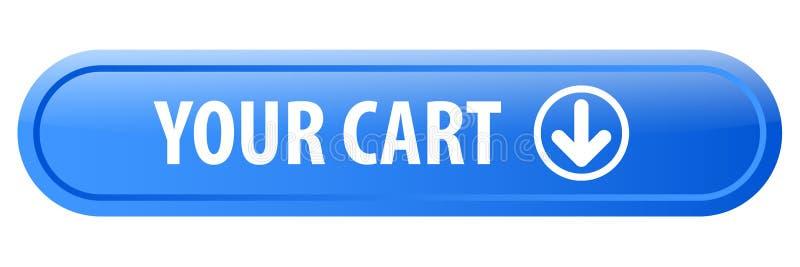 Din vagnsrengöringsdukknapp vektor illustrationer