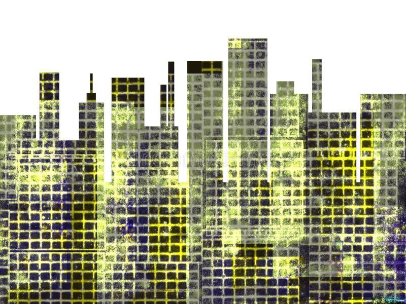 din vektor för horisont för bakgrundsstadsdesign vektor illustrationer