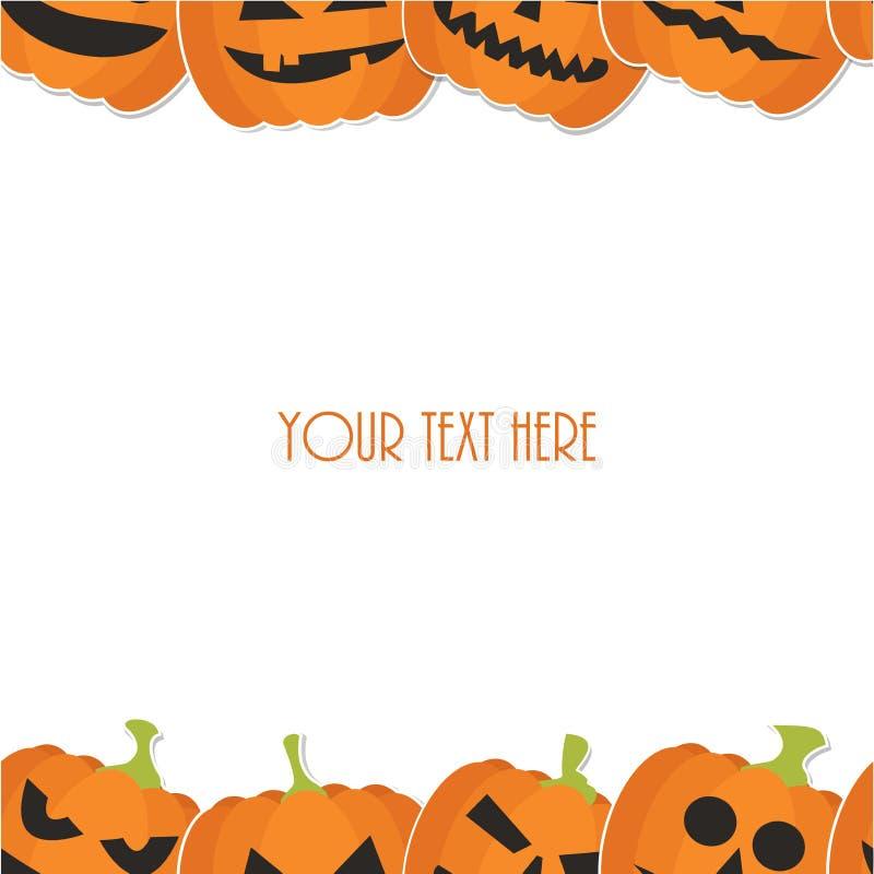 din vektor för text för banerhalloween ställe stock illustrationer