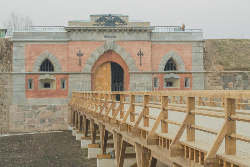 Dinaburg堡垒门  库存照片