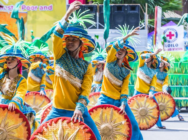 Dinagyang-Festival 2018 lizenzfreies stockbild