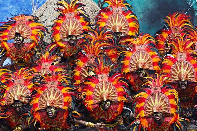 Dinagyang festiwalu krzyk zdjęcia stock