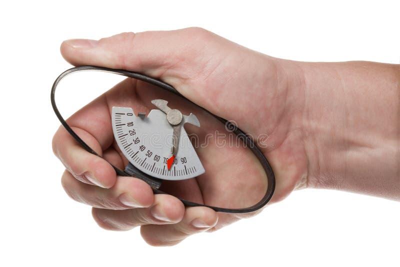 Dinamômetro da mão imagens de stock