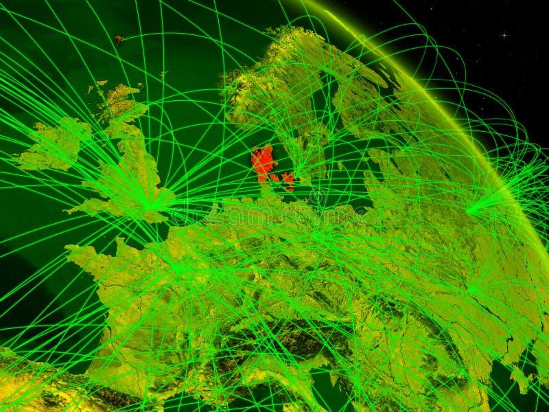 Dinamarca en el globo digital libre illustration