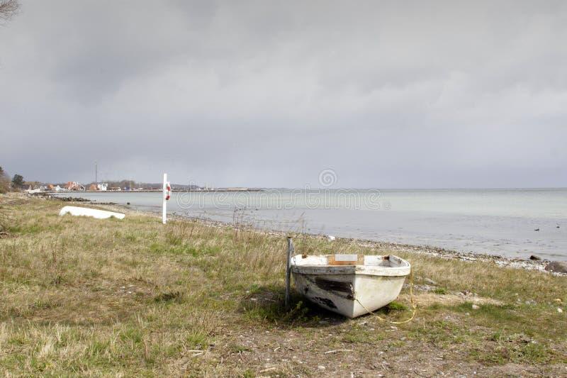 Dinamarca en la playa imagen de archivo