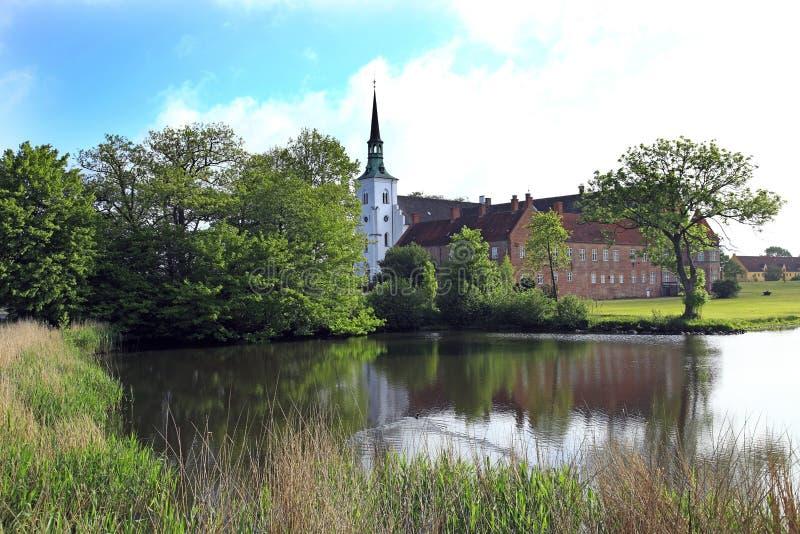 Dinamarca, Fiona, castelo de Faaborg fotos de stock royalty free