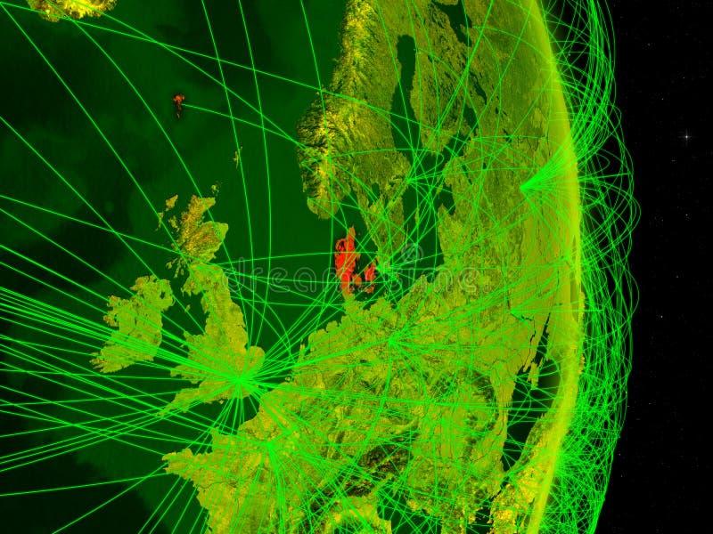 Dinamarca na terra digital ilustração royalty free