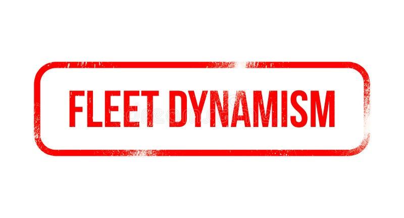 Dinamismo della flotta - gomma rossa di lerciume, bollo illustrazione vettoriale