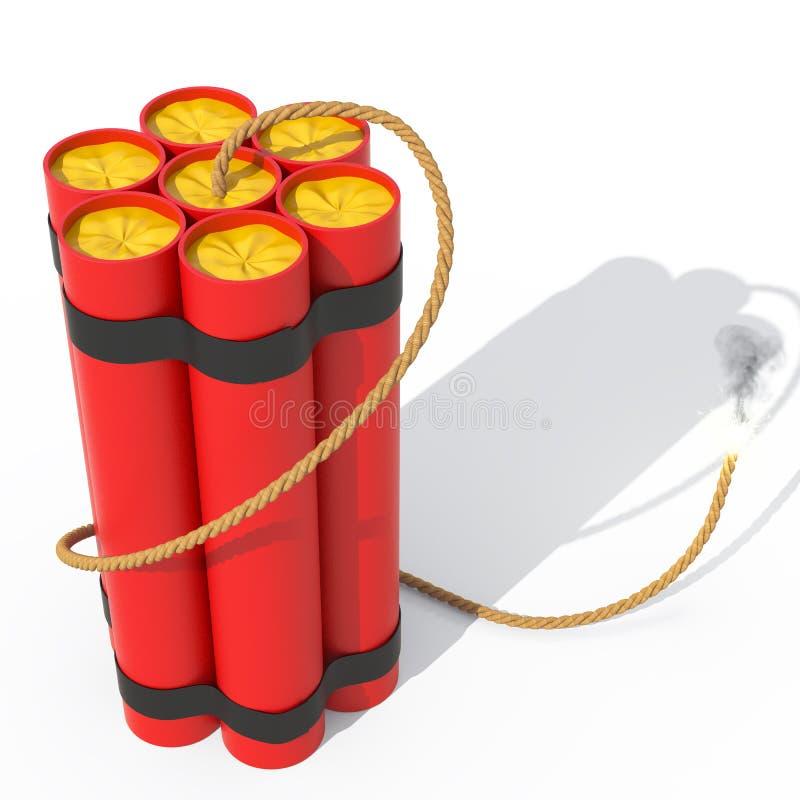Dinamita, bombas, TNT stock de ilustración