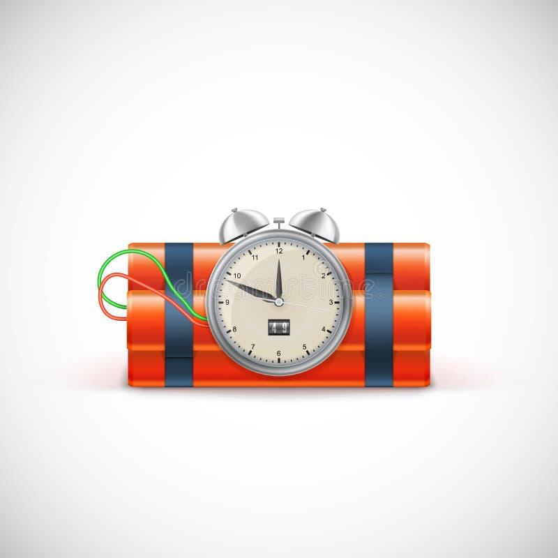 Dinamita con el reloj libre illustration