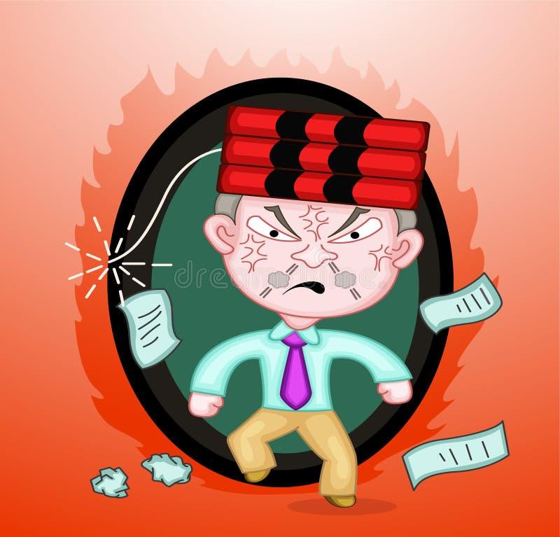 Dinamita en el jefe del asesino Boss stock de ilustración